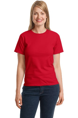 Hanes Women's Relaxed Fit Jersey ComfortSof Crewneck T-Shirt_Deep Red_S
