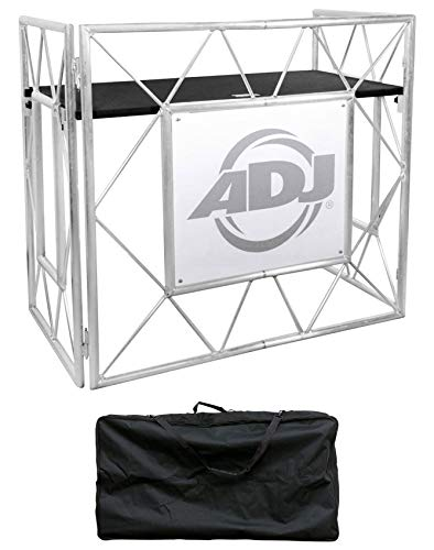 American DJ Pro Event Table II Foldable Metal DJ Booth Truss Facade+Carry Case