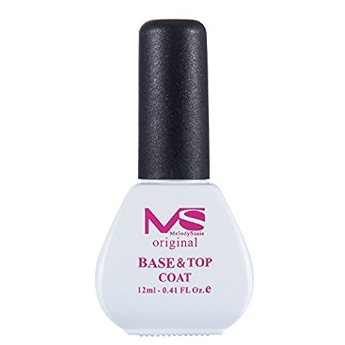MelodySusie Base Top Coat - 2-in-1 Nail Formula, Function as Both Base and Top Coat, Keep Your Gel Nails Stronger, Shinier, More Natural and Long-Lasting