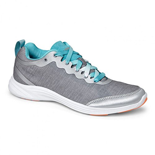 Vionic with Orthaheel Technology Womens Fyn Lace Up Sneaker Light Grey Size 9.5