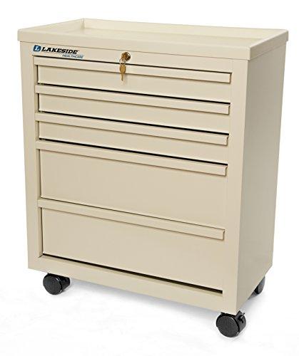 - Lakeside BV05 Bedside Cart - 5 Drawer