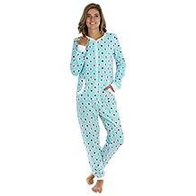 PajamaMania Women's Adult Non Footed Plush Fleece Onesie