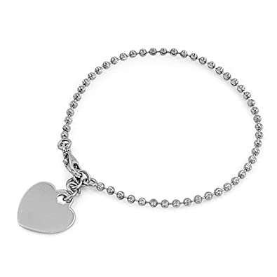 "8938fe5cf Designer Inspired 18mm ""HEART"" Charm Italian .925 Sterling Silver  Round Hollow Bead"