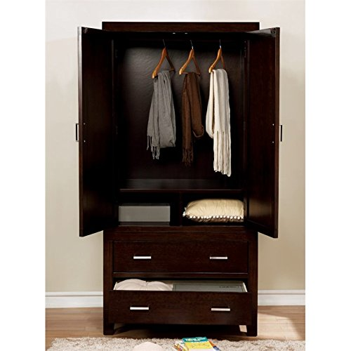 Furniture of America Helena Transitional Armoire in Espresso