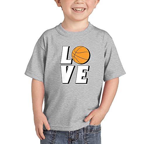 Love Basketball - Sports Hoops Infant/Toddler Cotton Jersey T-Shirt (Light Gray, 4T)