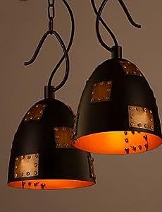 PinWei_ Creative Lron Retro Style Industrial Loft Lid Chandelier Lamp Restaurant Bar Cafe Personality , 110-120v