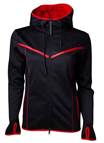 Assassins Creed Odyssey Technical Dark Full Length Zipper Hoodie, Female, Medium, Black/red Hd734145aco-m]()