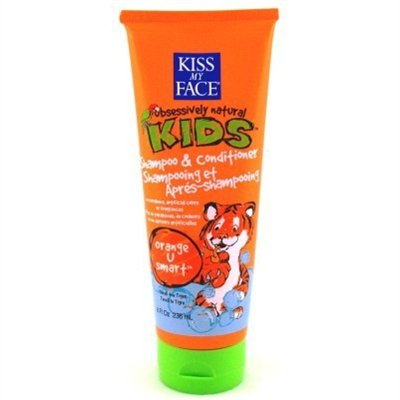 Kiss My Face Kids Shampoo & Conditioner 8oz Tube Orange-U-Smart (3 Pack)