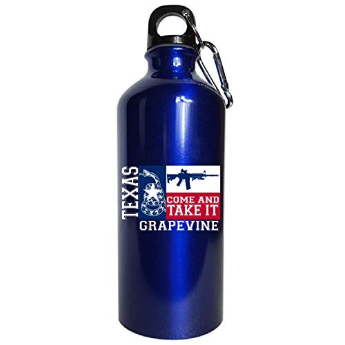 Grapevine Texas Come And Take It Ar15 - Water Bottle Metallic Blue ()