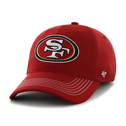 NFL San Francisco 49ers '47 Brand Game Time Closer Stretch Fit Hat, Red, One Size Stretch