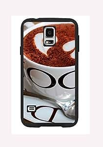 Case Cover Design Coffee CF05 Design for Samsung Note 2 Border Rubber Silicone Case Black@pattayamart