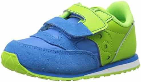 Saucony Jazz Hook & Loop Sneaker (Toddler/Little Kid), Blue/Green, 4 M US Toddler