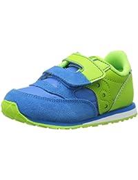Jazz Hook & Loop Sneaker (Toddler/Little Kid), Blue/Green, 4 M US Toddler