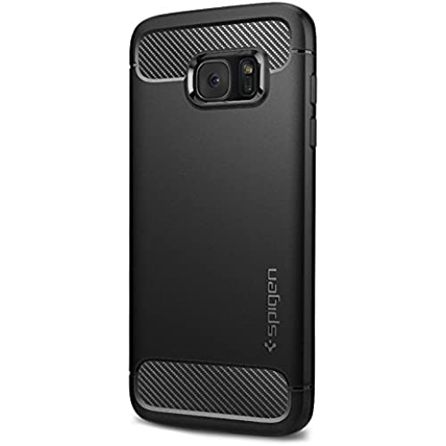 Spigen Rugged Armor Galaxy S7 Edge Case with Resilient Shock Absorption and Carbon Fiber Design for Samsung Galaxy S7 Edge 2016 - Black Sales