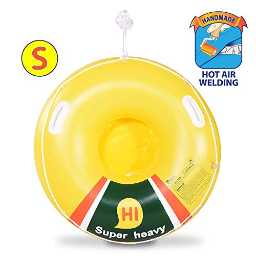 Super Heavy Duty Snow Tube, Hot Air Welding Inflatable Snow Sled, Winter Sport Tube (Renewed) from HIWENA