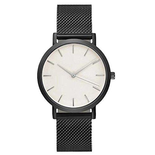 DressLksnf_Reloj Moda para Mujer Durable Brazalete de Reloj Bonito Cadena de Malla Superficie Popular Pulsera del Reloj Metal Bonita: Amazon.es: Ropa y ...