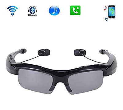 Half-moon Cycling Outdoor Sports Smart Bluetooth MP3 Headset 4.1 Stereo Polarized Sunglasses Digital Video Recorder DV Eyewear Camcorder Portable Mini Sunglasses Camera