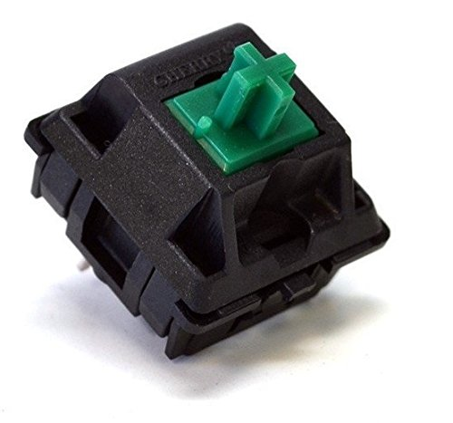 Cherry MX switches - DIY Mechanical Keyboard PCB mount (Green, 10 pcs)