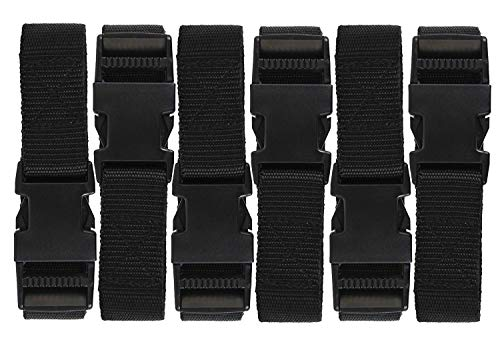 Luggage Nylon Straps with Quick Release Buckle Utility Straps for Travel Packing Outdoorsports 6 Pack 2.5 x 150cm -