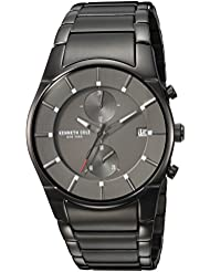 Kenneth Cole New York Mens Quartz Stainless Steel Casual Watch, Color:Grey (Model: KC15176001)