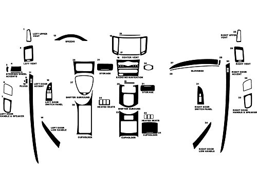 Rdash Dash Kit Decal Trim for Infiniti G37 2008-2009 (Coupe / Convertible) - Carbon Fiber 4D (Black)