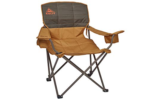 Kelty Deluxe Reclining Lounge Chair, Canyon Brown/Belluga - Folding Camp Chair for Festivals, Camping and Beach Days - Updated 2019 ()