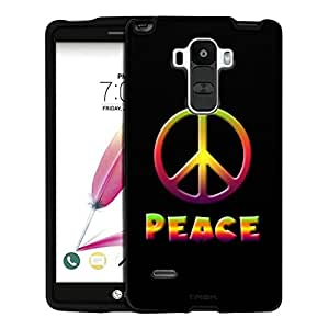 LG G Stylo Case, Snap On Cover by Trek Abstract Peace Art on Black Case