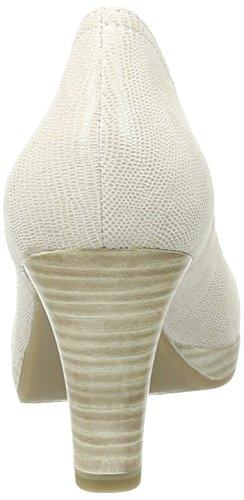 Struc 37 Eu offwht Femme Beige Blanc 120 Escarpins Tamaris 22410 wqIf8