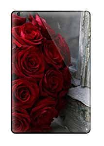 Tough Ipad TbU5604qglL Cases Covers/ Cases For Ipad Mini(red Roses)