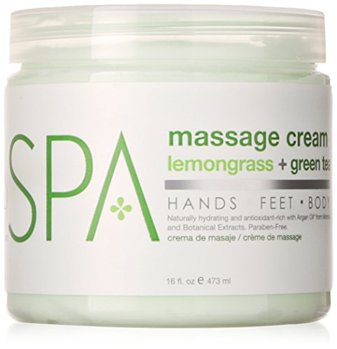BCL Spa Lemongrass and Green Tea Massage Cream, 16 -