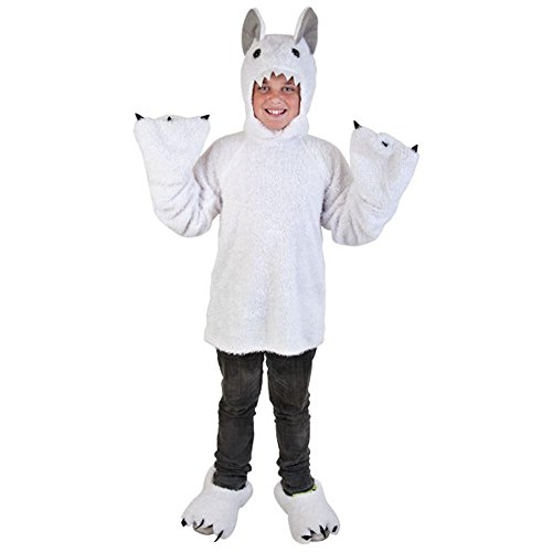Abominable Snowman Costumes (Child White Yeti Costume (Medium 8-10))