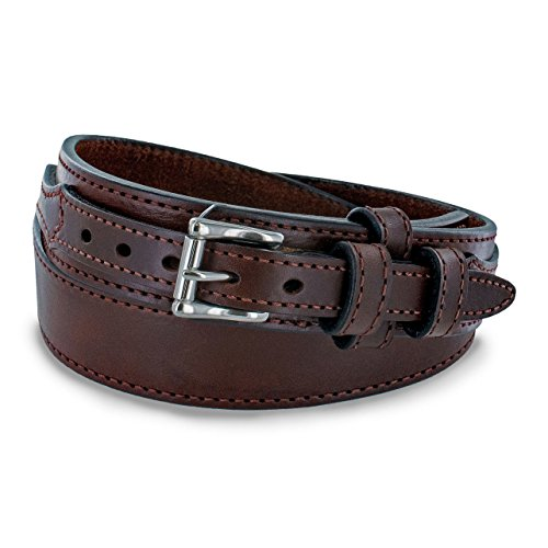 Hanks A3100 Ranger Gun Belt 14oz USA Made - Brown - Size 42