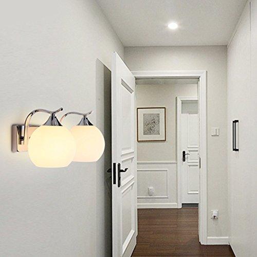 E2 Cream (Simple Wall lamp bedside lamp living room lighting dining room lamp bedroom modern glass lamps,E-2)