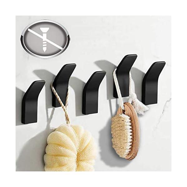 Handtuchhalter ohne bohren, 5 Stück Handtuchhaken Kleiderhaken Wand, Edelstahl Wandhaken Garderobenhaken, Rostfrei Haken…