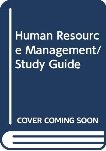 Human resource management dsst / dantes test study guide 331 by.