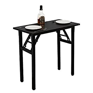 Need Folding Desk for Home Office 80cm Length Modern Folding Table No Install Needed Black AC5CB-8040