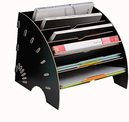 Schreibtisch organizer, Aktenablage aus Holz, Holz Büro-Desktop-Schreibwaren Erweitern Füllung Rack Tray Holder Organizer für A4 Papier, Brief, Magazin und Dokument (Farbe : A)