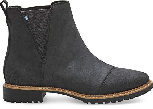- TOMS Women's Cleo Boot Black Leather 9 M
