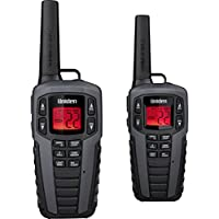 Uniden SX377-2CKHS 37 Mile MicroUSB FRS/GMRS Two-Way Radios with Charging Kit, 2-Pack, Black