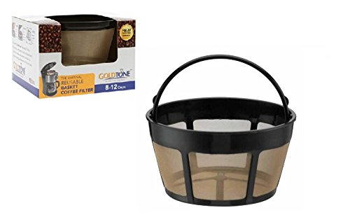 12 Cup Gold Tone Filter - GOLDTONE Reusable 8-12 Cup Basket Coffee Filter fits Hamilton Beach Coffee Makers and Brewers. Replaces your Hamilton Beach Reusable Coffee Filter - BPA Free