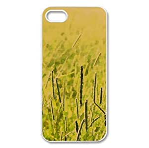 Grass Field, Summer Watercolor style Cover iPhone 5 and 5S Case (Landscape Watercolor style Cover iPhone 5 and 5S Case)