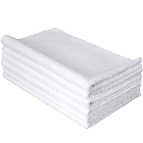 THE RAG COMPANY (6-Pack) 16 in. x 27 in. Spa, Gym, Yoga, Exercise, Fitness, Sport and Workout Towel - Ultra Soft, Super Absorbent, Fast Drying 365gsm Premium Weight Microfiber Terry