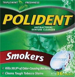 Polident Denturer Cleanser Tablets Smokers 36-Count