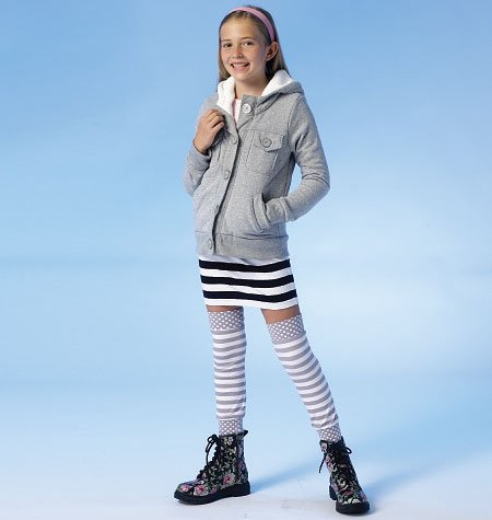 MCCALLS M7044 GIRLS'JACKET, SKIRT AND LEG WARMERS (SIZE 7-14) SEWING PATTERN - Mccalls Fashion