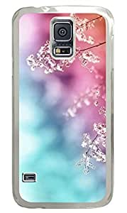 Romantic Flowers PC Transparent Hard Case Cover Skin For Samsung Galaxy S5 I9600