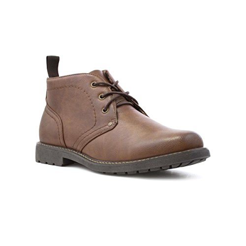 Beckett Mens Tan Stitched Detail Lace-up Boot - Size 10 UK/11 US - Brown by Beckett
