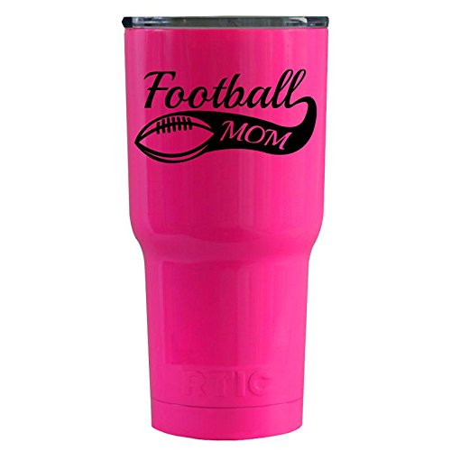 RTIC Football Mom on Hot Pink 20 oz Stainless Steel Tumbler
