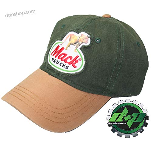 Mack Bulldog semi Truck Truckers hat Ball Cap snap Back Diesel Gear Blue mesh -