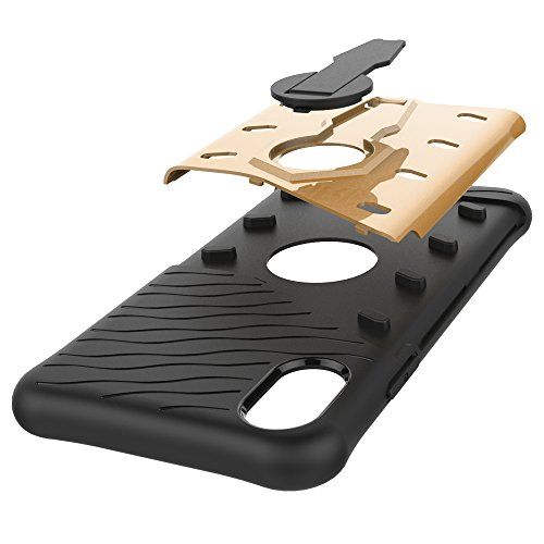 weichem Denfender Ständerabdeckung Rotation Hybridbrillen Schutzhülle 2 von Blau in ° aus X Silikon 1 iPhone mit für 360 Ganzkörper Farbe zwIOAqI