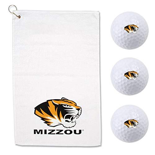 McArthur Missouri Mizzou Tigers Golf Balls and Sport Towel Gift Set